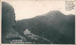 On Top of Old Mt Mansfield Postcard