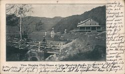 View Showing Club House at Lake Mansfield Postcard