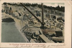 The Woodbury Granite Quarry Postcard
