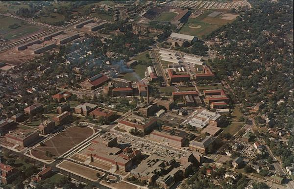 Purdue University Campus From the Air Lafayette Indiana
