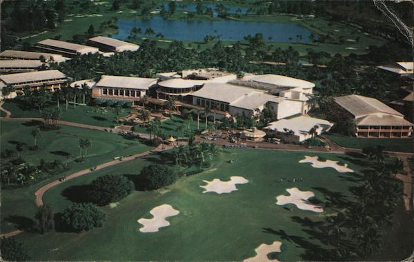 Aerial View of Doral Country Club and Hotel Miami Florida