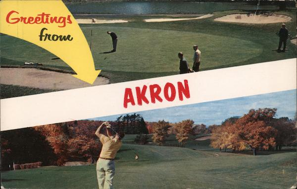 Greetings From Akron, On the Golf Course Ohio