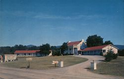 Colonial Manor Motor Lodge Postcard