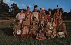 Members of the Wampanoag Tribe of Gay Head and Mashpee Indians Postcard