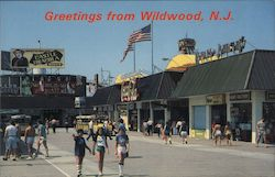 Taking a mornign stroll on the Wildwood Boardwalk - Greetings