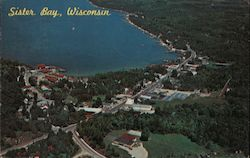 Aerial View of Village of Sister Bay in Door County
