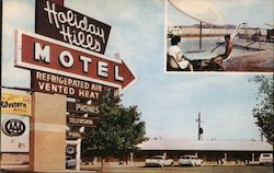 Holiday Hills Motel Postcard