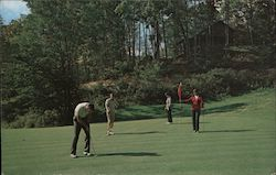 View of putting on the 7th Green with a Fairway Home in the background located, in the Wolf Laurel Developement, 15 miles northeast of Mars Hill, North Carolina on the Tennessee-North Carolina state l