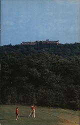 The Inn at Buck Hills Falls in the Pocono Mountains, Pennsylvania, as seen from the Golf Course Postcard
