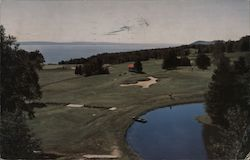 View From 9th Tee, Manoir Richelieu Golf Course Postcard