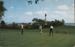 Shoop Park Golf Course showing Wind Point Lighthouse in the distance Postcard
