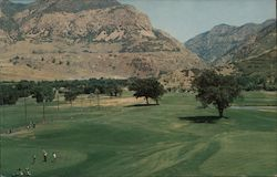 El Monte Golf Course looking Eastward toward mouth of Ogden Canyon, part of the Wasatch Range in the Rocky Mountains Postcard
