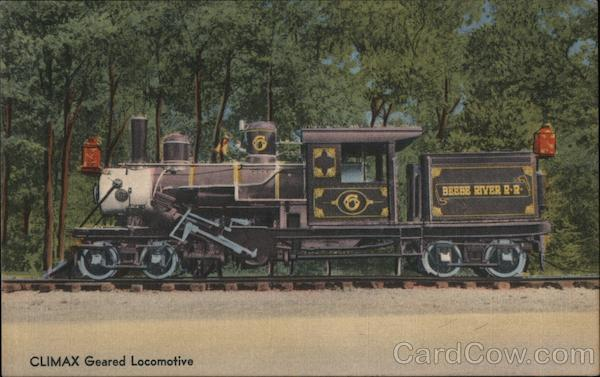 Climax Geared Locomotive North Woodstock New Hampshire