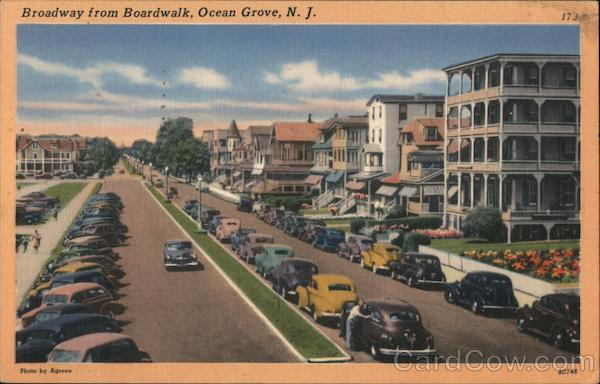 Broadway from the Boardwalk Ocean Grove New Jersey