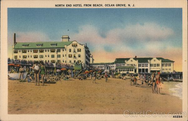 North End Hotel from Beach Ocean Grove New Jersey