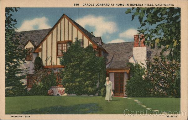 Caole Lombard at Home Beverly Hills California