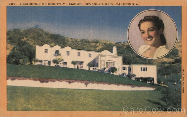 Residence of Dorothy Lamour Beverly Hills California