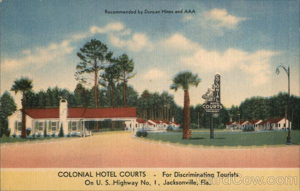 Colonial Hotel Courts Jacksonville Florida
