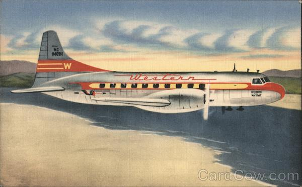 Western's Famed Convair-Liner Airline Advertising
