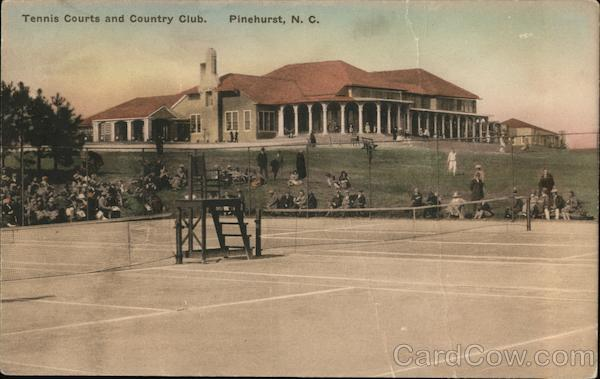 Tennis Courts and Country Club Pinehurst North Carolina