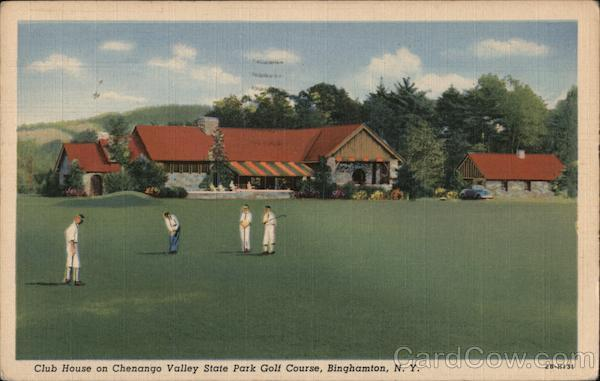 Club House on Chenango Valley State Park Golf Course Binghamton New York