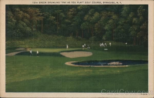 12th Green Drumlins Pay as you play Golf Course Syracuse New York