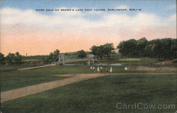 River Hole on Brown's Lake Golf Course Burlington Wisconsin