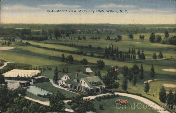 Aerial View of Country Club Wilson North Carolina