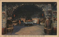 The Fireplace at Hermit's Rest Postcard
