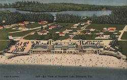 Air View of Sarasota Lido Postcard