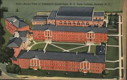 Aerial View of Irishman's Quadrangle, NC State College