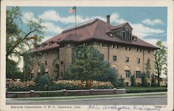 Edwards Gymnasium, O.W.U. Postcard