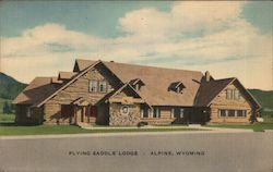 Flying Saddle Lodge Postcard