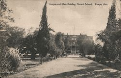 Campus and Main Building, Normal School Postcard