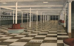 Interior of Club House, Garden State Park