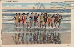 Fourteen Bathing Beauties in the Surf - Have a Swim With Us