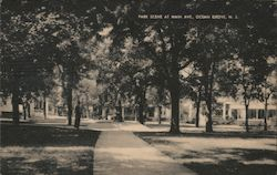 Park Scene at Main Avenue Postcard