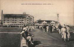 North End Hotel from Boardwalk Postcard