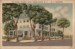 The Grand Atlantic Hotel and Cafeteria Postcard