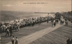 Scene on Boardwalk Postcard