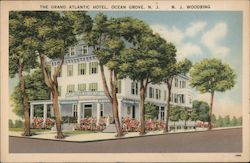 Grand Atlantic Hotel and Cafeteria Postcard