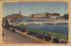 Ocean Grove and Asbur Park Bridge across Wesley Lake Postcard