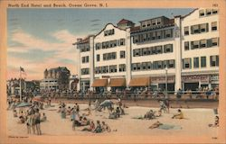 North End Hotel and Beach Postcard
