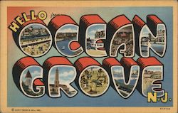 Hello from Ocean Grove, NJ Postcard