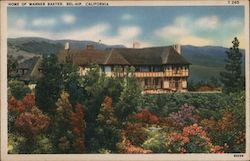 Home of Warner Baxter Postcard