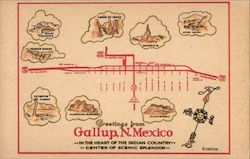 Greetings From Gallup Postcard