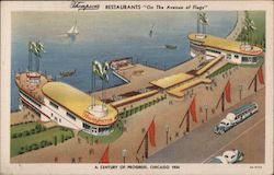 Thompson's Restaurants On the Avenue of Flags Postcard
