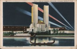 Night View of Federal Building, Chicago's World's Fair