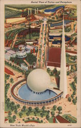 Aerial View of Trylon and Perisphere