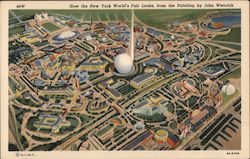 How the New York World's Fair Look, from the Painting by John Wenrich